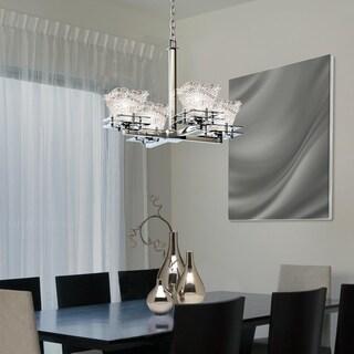 Justice Design Group Metropolis 4-light Polished Chrome Chandelier