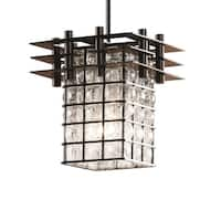 Justice Design Group Metropolis 1-light Dark Bronze Pendant