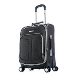 Olympia Tuscany Black 21-inch Expandable Carry On Spinner Upright Suitcase