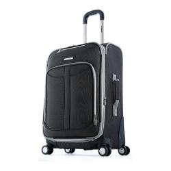 Olympia Tuscany Black 30-inch Expandable Spinner Upright Suitcase