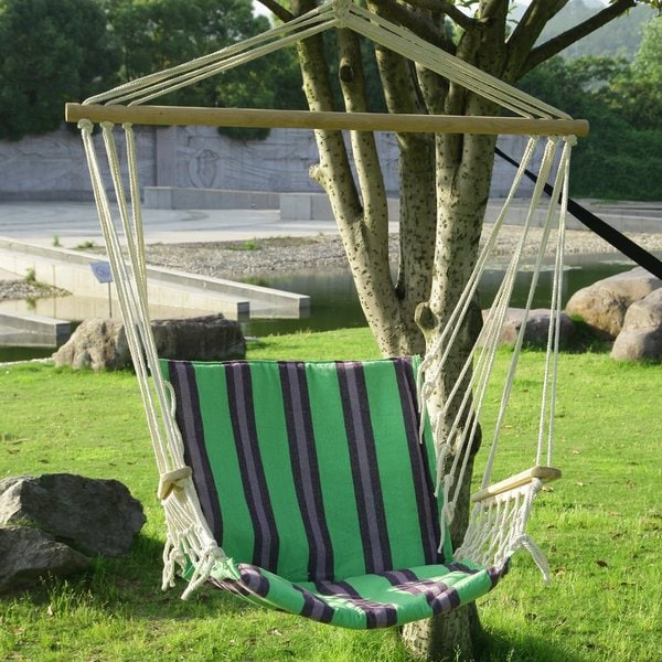 Adeco hammock chair free shipping today for Ez hang chairs instructions
