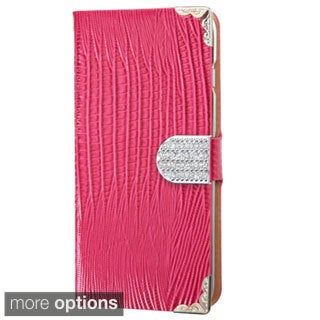 INSTEN Crocodile Skin Wallet with Metal Buckle Tray For Apple iPhone 6 Plus