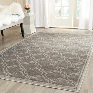 Safavieh Indoor/ Outdoor Amherst Grey/ Light Grey Rug - 9' Square