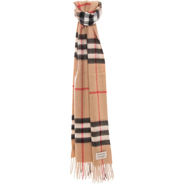 2e8c5187372d Shop Burberry Heritage Check Cashmere Scarf - Free Shipping Today ...