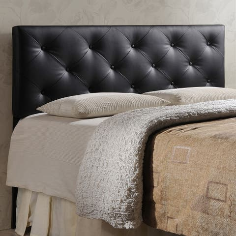 Porch & Den Minnehaha Contemporary Faux Leather Headboard