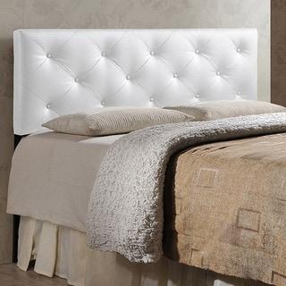Baxton Studio Kearney White Modern Uphostered Headboard