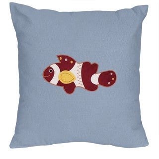 Ocean Blue Bedding Set Throw Pillow