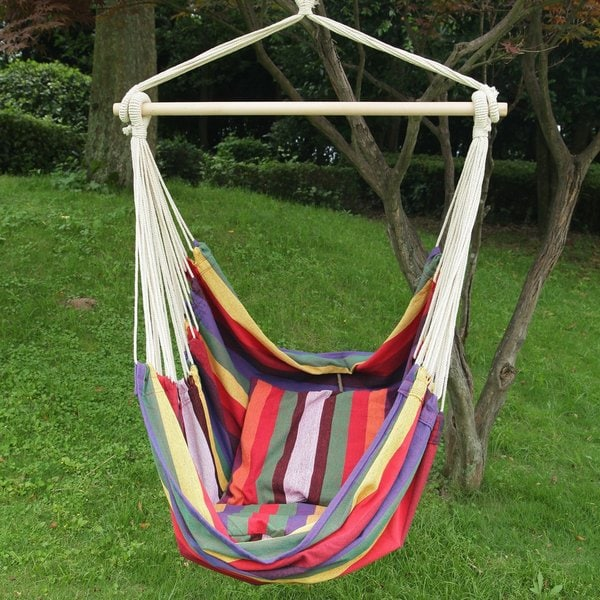 adeco hammock chair with pillows adeco hammock chair with pillows   free shipping today   overstock      rh   overstock