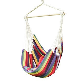 Adeco Hammock Chair with Pillows