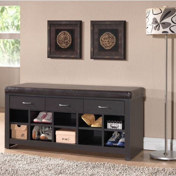 Baxton Studio Espresso Entryway Modern Bench Free Shipping Today 16716615