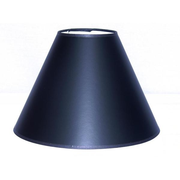 Crown Lighting Black Hardback Large Empire Straight Sided Lampshade with Self Trim