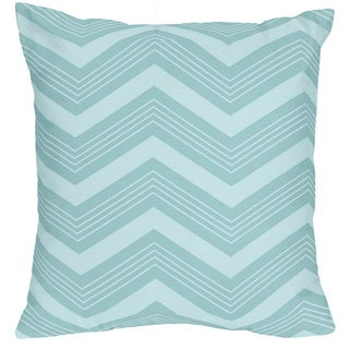 Ballon Buddies Bedding Set Blue Chevron and Gray 16-inch Throw Pillow