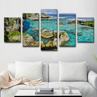 Seaglass III' Multi-Piece Canvas Wall Art by Chris Doherty