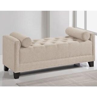 Baxton Studio Walsh Upholstered Modern Tufted Bench