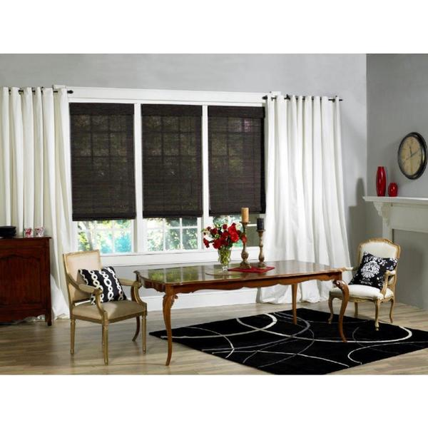 Lewis Hyman Mont Royal Collection Bamboo Roman Shade in Sunset Finish