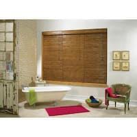 Lewis Hyman Tobermory Collection Bamboo Roman Shade in Oak Finish