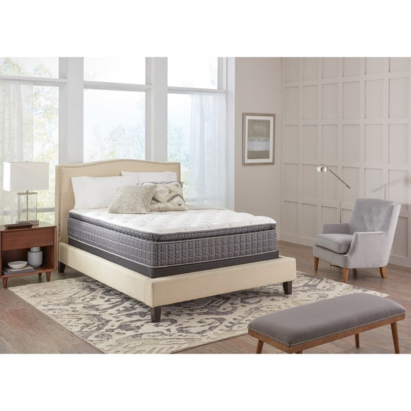 Spring Air Premium Collection Noelle Pillow Top Queen Size Mattress Set White