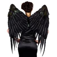 Large Black Maleficient Costume Wings