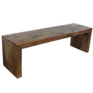 Handmade Timbergirl Solid Mango Wood Bench (India)