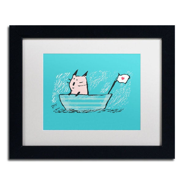 Carla Martell Sweet Sailor Cat Framed Matted Art Free