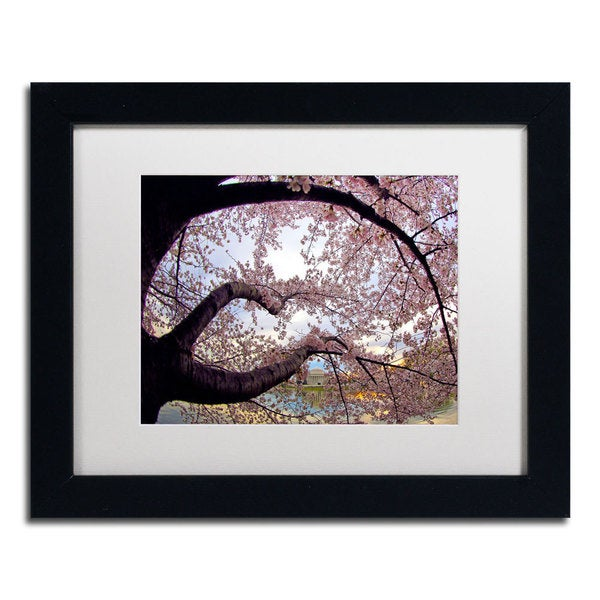 CATeyes 'Cherry Blossoms 1' Framed Matted Art