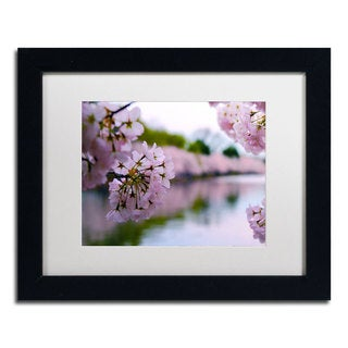 CATeyes 'Cherry Blossoms 2' Framed Matted Art