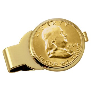 American Coin Treasures Gold-Plated Silver Franklin Half Dollar Money Clip