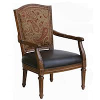 Shop Traditional Distressed Antique Oak Accent Chair By