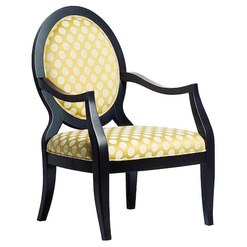 Sloan Oval Back Yellow Accent Chair by Greyson Living