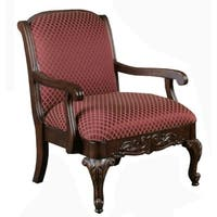Gracewood Hollow Hesse Carved Red Accent Chair