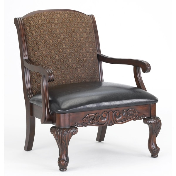 Stetson Carved Brown Accent Chair by Greyson Living
