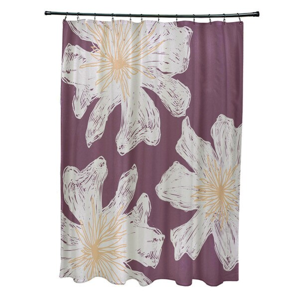 Shop Floral 71x74-inch Shower Curtain - Free Shipping Today ...