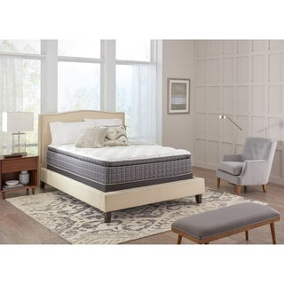 Spring Air Premium Collection Noelle Pillow Top Twin XL-size Mattress Set - Off-White