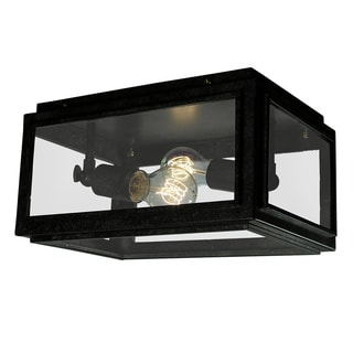 Windee 2-light Edison Flush Mount with Bulbs