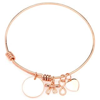 La Preciosa Circle/ Heart/ Infinity/ Bow Adjustable Charm Bangle|https://ak1.ostkcdn.com/images/products/9537887/P16717289.jpg?impolicy=medium