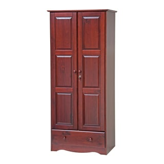 Gracewood Hollow Siddartha Flexible Solid Wood Customizable Wardrobe (3 options available)
