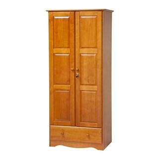 Gracewood Hollow Siddartha Flexible Solid Wood Customizable Wardrobe