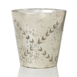 Sage & Co 12-inch Etched Mercury Glass Vase