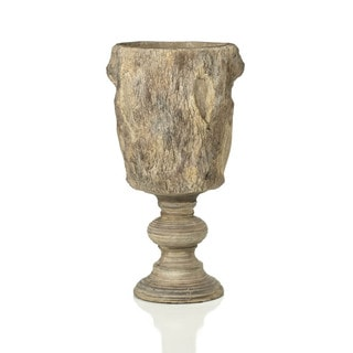 Sage & Co 23-inch Faux Bois Planter On Pedestal