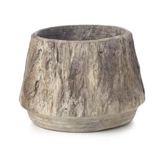 Sage & Co 6-inch Small Cement Faux Bois Planter