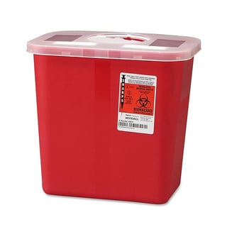 Covidien Sharps 2-gallon Container with Rotor Lid