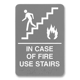 U.S. Stamp & Sign ADA Plastic Fire Use Stairs Sign