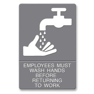 U.S. Stamp & Sign ADA Plastic Wash Hands Sign