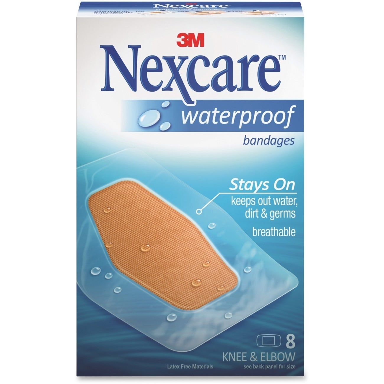 3M Nexcare Waterproof Knee and Elbow Bandages (MMM58108),...