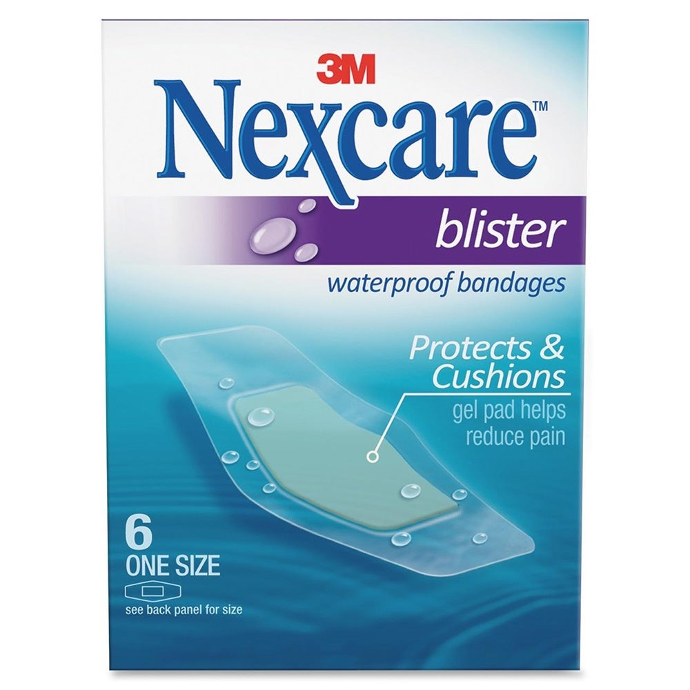 3M Nexcare Blister Waterproof Bandages (MMMBWB06), Clear