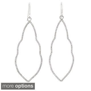 Goldplated Sterling Silver Cubic Zirconia Cutout Dangle Earrings