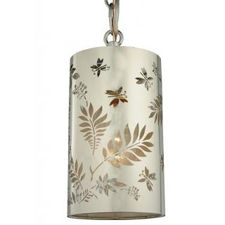 Butterflies and Ferns Single-light 4-inch Mini Pendant