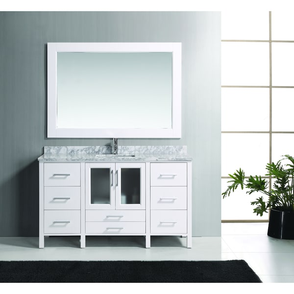 Shop Design Element Stanton 60 Inch Solid Wood Single Sink
