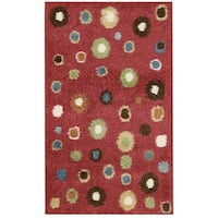 Nourison Perception Red Abstract Rug