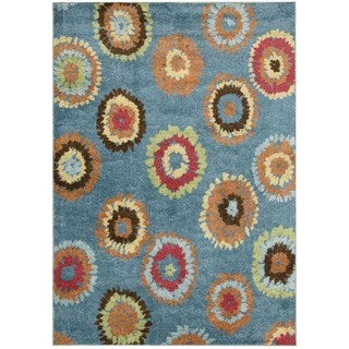 Nourison Perception Blue Abstract Rug (5'3 x 7'5)